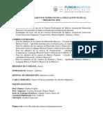 Programa Fundamentos Teor. de La Ed. Mcal. 2019. Doc