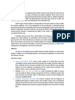 """Paper review """"Audit Opinion and Earnings Management By Tsipouridou"""""""