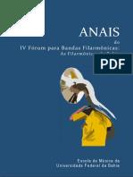 Anais Do 4 Forum Para Bandas Filarmonicas - EMUS-UFBA - 2017
