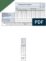 Formato Entrega de Epp y Dotacion