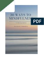 30 Ways to Mindfulness