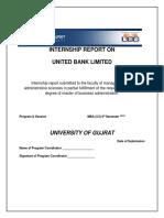 263204207 UBL Internship Report