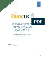Informe técnico metalmecanica
