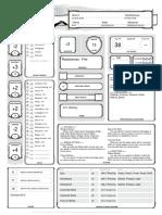 Zara character sheet