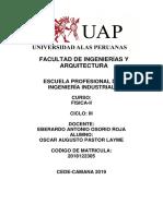 Trabajo Academico Fisca II Oscar Augusto Pastor Layme Cod 2018122305 DUED CAMANA