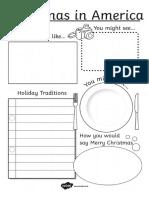 Christmas Around the World Writing Frames