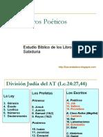 ESTUDIO BÍBLICO DE LOS LIBROS POÉTICOS Y SABIDURÍA