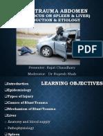 Blunt Trauma Introduction and Etiology