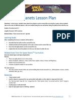 Revolving Planets Lesson Plan