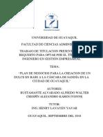Plan de Negocios para la creación de un dulce en base a la cáscara de sandía en la ciudad de Guayaquil.pdf