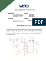 Proyecto Sistemas Electricos - Termometro Analogico