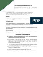 Protocolo de Seguridad Para El Plan Electoral 2019