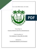 Concept of Domicile Under Private International Law
