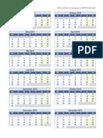2019 Kalender Eine Seite