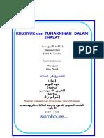Khusyuk Dan Tumakninah Dalam Shalat