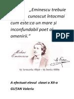 Discurs Mihai Eminescu Docx