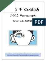 Year 7 English TEEL Paragraph Writing Guide Wonder (1)