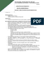 GUIA de LABORATORIO 04 - Circuitos Restador y Amplificador de Instrumentación