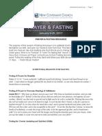 Prayer and Fasting resource