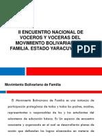 II encuentro nacional de Voceros y voceras Movimiento Bolivariano de Familias de Venezuela