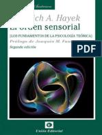 Hayek, F.- El Orden Sensorial