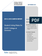Student voting report for SUNY College at Geneseo