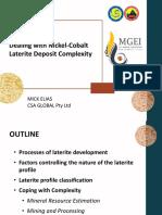 Dealing With Nickel Cobalt Laterite Deposit Complexity Mick Elias September 2019 1