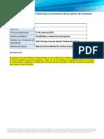 Evaluación financiera y económica del proyecto de inversión