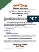 Spookmaster  Pumpkin Carving Patterns Book 4