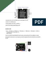 Speaker Output Notes