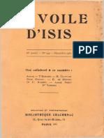 Voile d'Isis, V36, n144, Déc1931