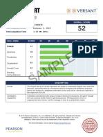 Sample SCORE REPORT VPro Writing Watermark