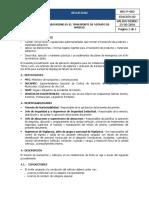SEG-P-002 Normas de Seguridad Para El Transporte de Nitrato de Amonio