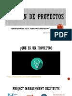 1_generalidades de La Gestión de Proyectos