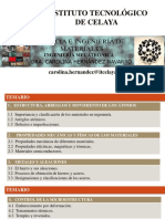 Ciencia e Ingenieria de Materiales Ing Mecatronica Temario 2016