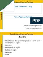 Quimiot Aula 3 Agentes Alquilantes 2019