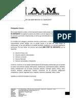 Modelo de Oficio de presentación de empresa