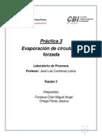Práctica 3 Evaporación de Circulación Forzada