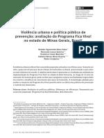 SILVA et al. Avaliação do Programa Fica Vivo no Estado de Minas Gerais.pdf