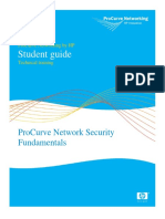 Pro Curve Network Security Student Guide