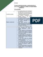 requerimientos de una planta de procesamientos