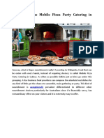 Quick as Well as Mobile Pizza Party Catering in Sydney