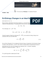 5.4 Entropy Changes in an Ideal Gas