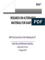 Reserach on Alternative Materials for Gantries - Loughborough University