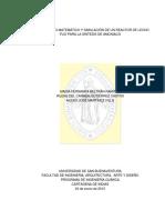 Modelamiento Matemático planta de amonia