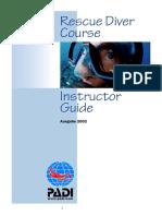 PADI - Instructor Guide - Rescue Diver Course