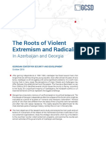 The Roots of Violent Extremism and Radicalization in azerbaijan