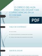 3. Punto Critico Del Alza Continuo Del Dólar