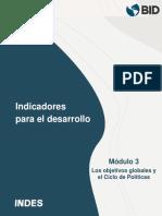 Objetivos Globales y El Ciclo de Políticas