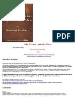 John G. Lake - Apóstol a África